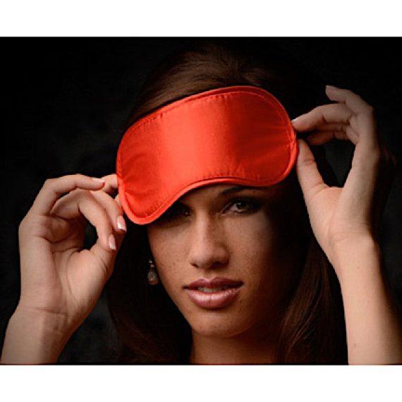 Le Boheme Satin Blindfold - Red