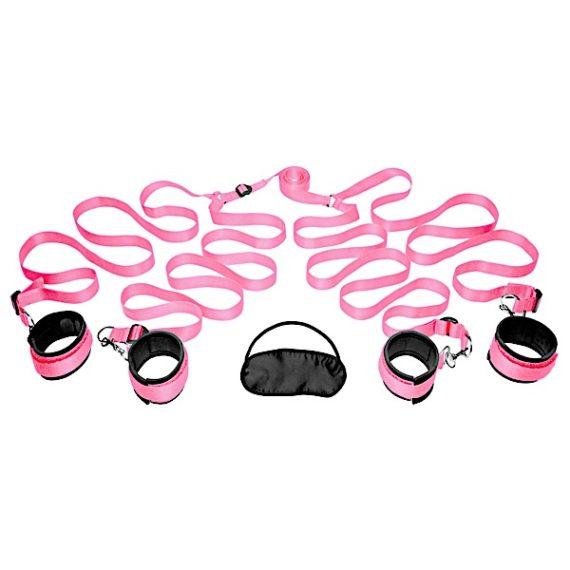 Frisky Pink Bedroom Restraint Kit