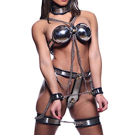 Female Chastity Full Body Steel Bondage Restraints