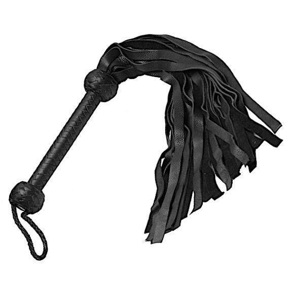 Strict Leather Flogger- Black