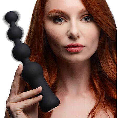 Deluxe Voodoo Beads 10X Silicone Anal Beads Vibrator