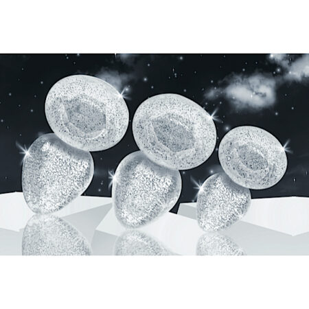 Glitter Gem Anal Plug Set - Silver