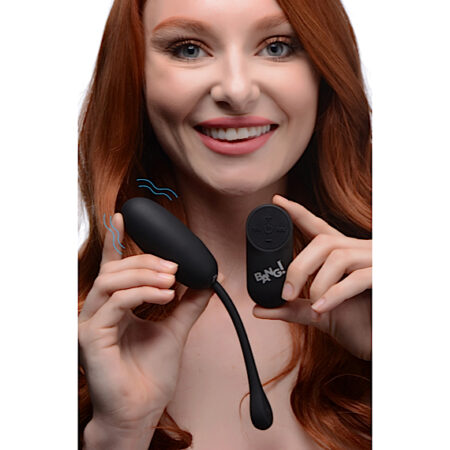 Remote Control 28X Silicone Plush Egg - Black