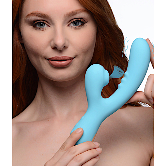 8X Silicone Suction Rabbit - Teal