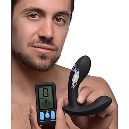E-Stim Pro Silicone Vibrating Prostate Massager with Remote Control